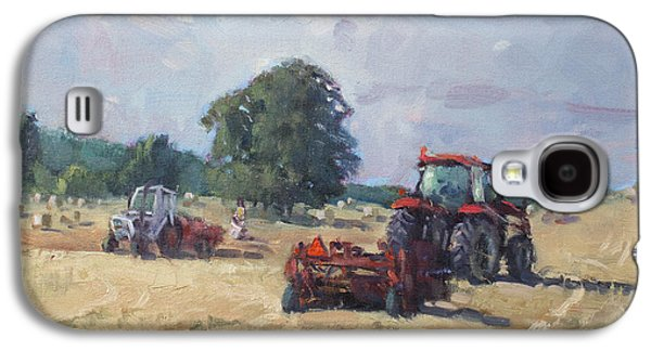Tractors In The Farm Georgetown Galaxy S4 Case by Ylli Haruni