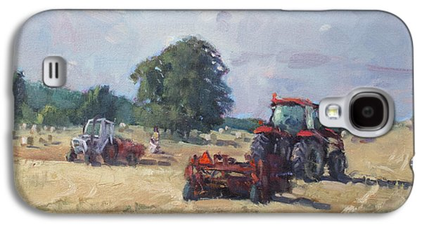 Tractors Galaxy S4 Case - Tractors In The Farm Georgetown by Ylli Haruni