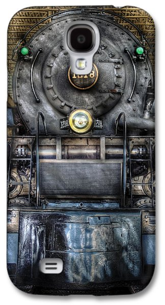 Train Photographs Galaxy S4 Cases - Train - Engine -1218 - Norfolk Western Class A - 1218 - Front View Galaxy S4 Case by Mike Savad