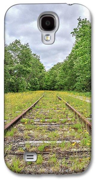 Train Tracks And Wildflowers Galaxy S4 Case by Edward Fielding