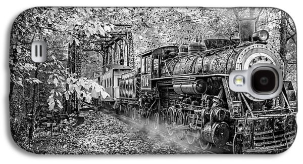 Train's Coming Black And White Galaxy S4 Case