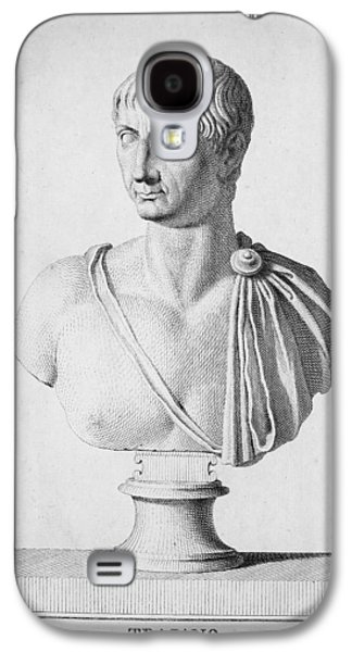 Statue Portrait Galaxy S4 Cases - TRAJAN (c52-117) Galaxy S4 Case by Granger