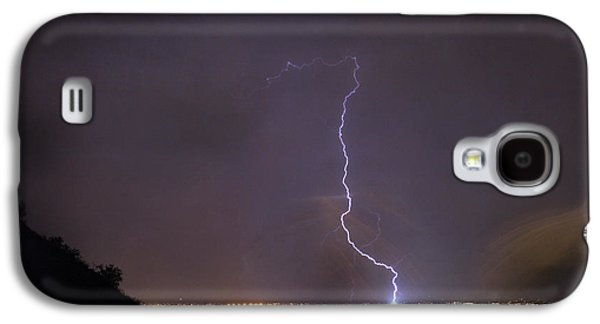 Galaxy S4 Case featuring the photograph It's A Hit Transformer Lightning Strike by James BO Insogna