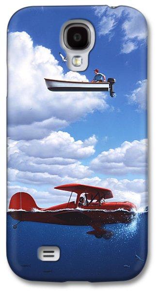 Seagull Galaxy S4 Case - Transportation by Jerry LoFaro