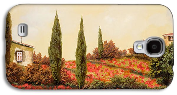 Tre Case Tra I Papaveri Galaxy S4 Case by Guido Borelli