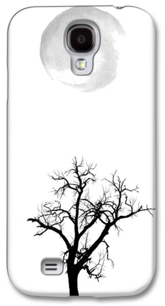 Tree And Moon Galaxy S4 Case by Nordic Print Studio