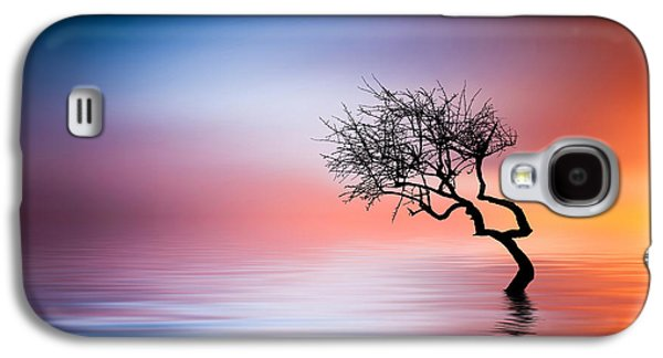 Tree At Lake Galaxy S4 Case by Bess Hamiti