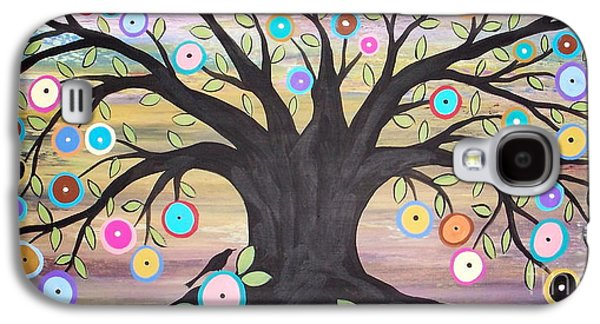 Best Sellers -  - Landscape Acrylic Prints Galaxy S4 Cases - Tree Of Life And Bird Galaxy S4 Case by Karla Gerard