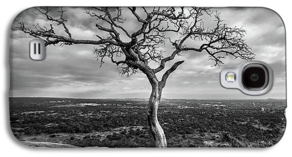 Tree On Enchanted Rock In Black And White Galaxy S4 Case