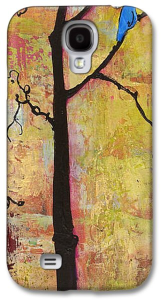 Warm Tones Galaxy S4 Cases - Tree Print Triptych Section 2 Galaxy S4 Case by Blenda Studio