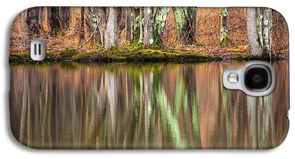 Tree Trunks Reflecting Galaxy S4 Case by Karol Livote