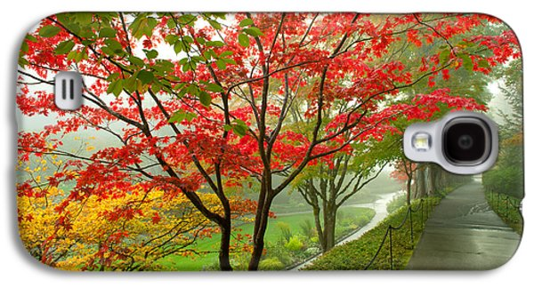 Trees Along A Garden Path, Victoria Galaxy S4 Case by Panoramic Images