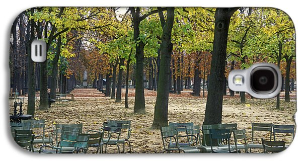 Trees And Empty Chairs In Autumn Galaxy S4 Case