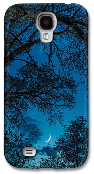 Trees And Moon Galaxy S4 Case