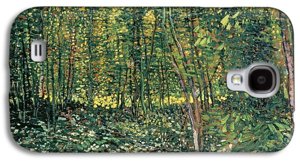 Trees And Undergrowth Galaxy S4 Case by Vincent Van Gogh