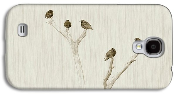 Treetop Starlings Galaxy S4 Case by Benanne Stiens