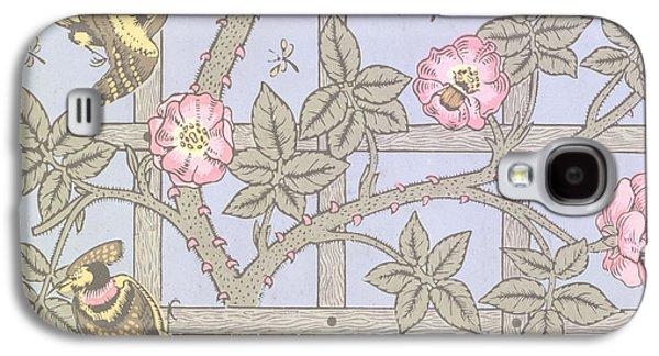 Trellis   Antique Wallpaper Design Galaxy S4 Case by William Morris