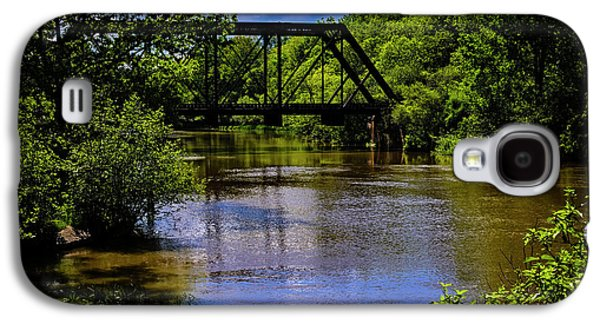 Galaxy S4 Case featuring the photograph Trestle Over River by Mark Myhaver
