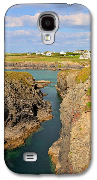 Treyarnon Bay Coast Cornwall England Uk Cornish North Colourful  Galaxy S4 Case