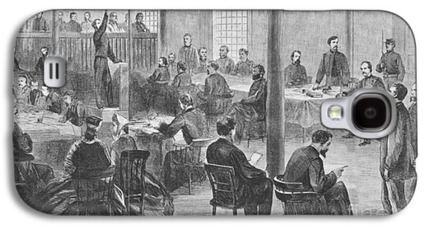 Trial Of Lincoln Assassins, 1865 Galaxy S4 Case