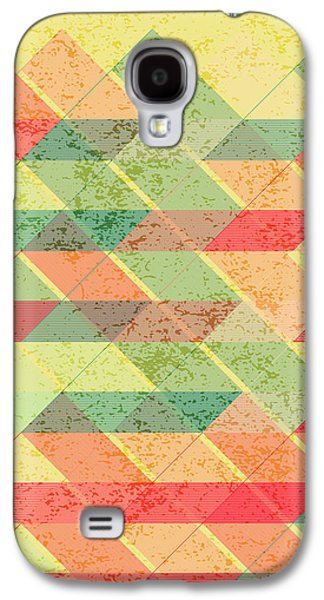 Triangles Pattern Galaxy S4 Case by Gaspar Avila
