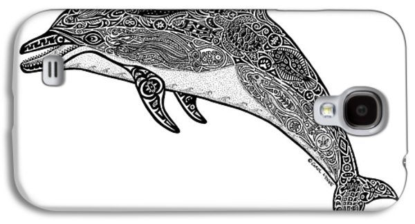 Tribal Dolphin Galaxy S4 Case by Carol Lynne