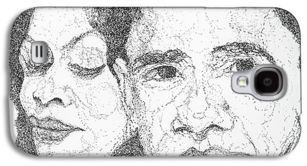 Tribute To Michelle And Barack Obama Galaxy S4 Case by Michelle Gilmore