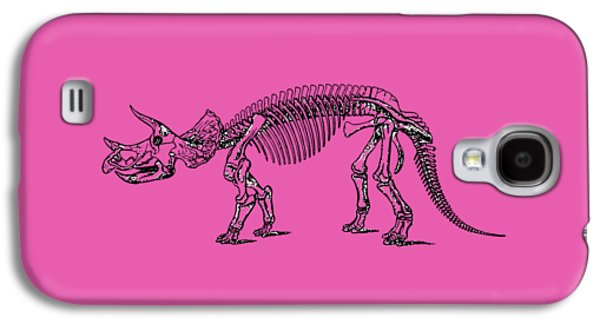 Triceratops Dinosaur Tee Galaxy S4 Case by Edward Fielding