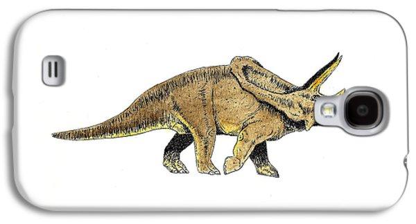 Dinosaur Galaxy S4 Case - Triceratops by Michael Vigliotti