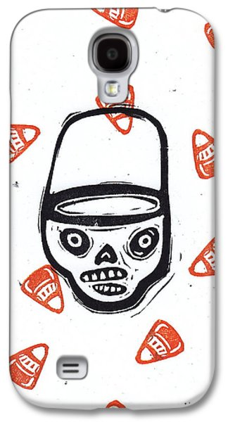 Trick Or Treat Candy Corn Skull Galaxy S4 Case by Coralette Damme