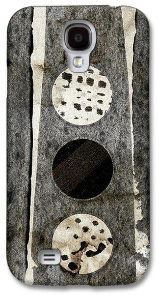 Triple Lunacy Abstract 2 Galaxy S4 Case by Carol Leigh