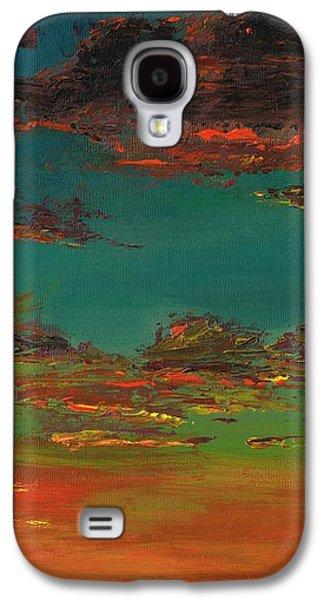 Desert Sunset Galaxy S4 Case - Triptych 3 by Frances Marino