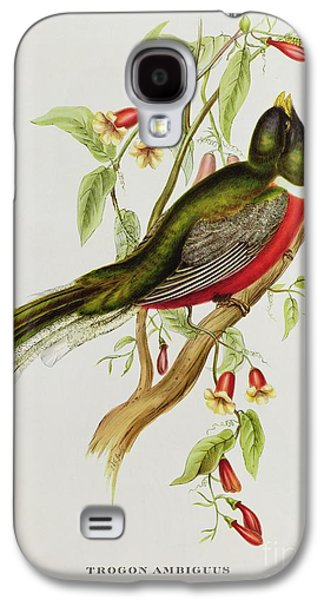 Trogon Ambiguus Galaxy S4 Case by John Gould