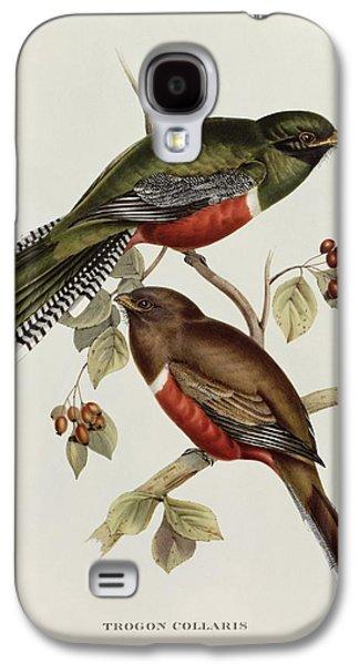 Lovebird Galaxy S4 Case - Trogon Collaris by John Gould