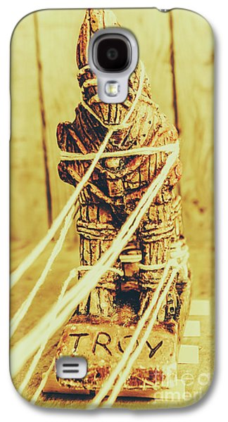 Trojan Horse Wooden Toy Being Pulled By Ropes Galaxy S4 Case by Jorgo Photography - Wall Art Gallery