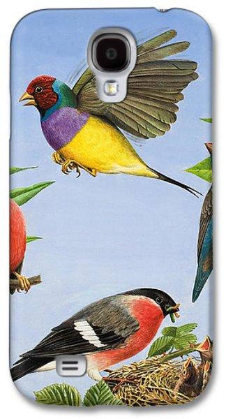 Feeding Young Galaxy S4 Case - Tropical Birds by RB Davis