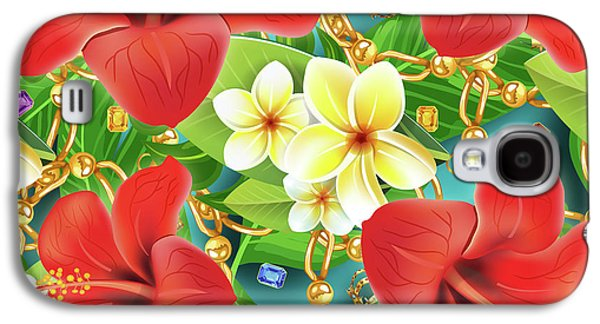 Tropical Color Party Galaxy S4 Case by Mark Ashkenazi