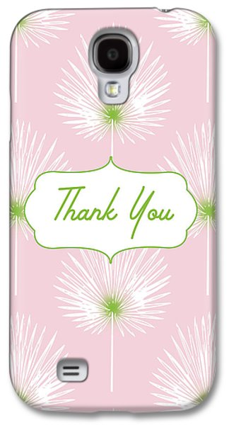Tropical Leaf Thank You- Art By Linda Woods Galaxy S4 Case