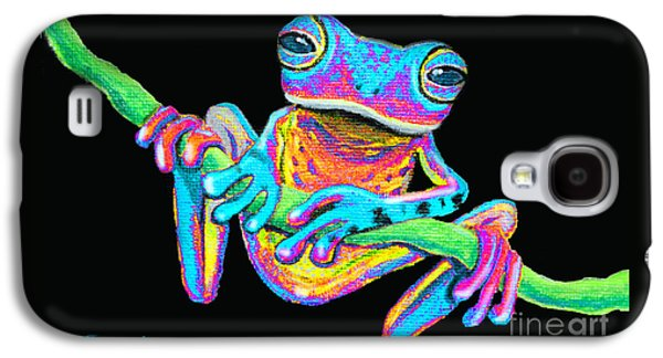 Tropical Rainbow Frog On A Vine Galaxy S4 Case