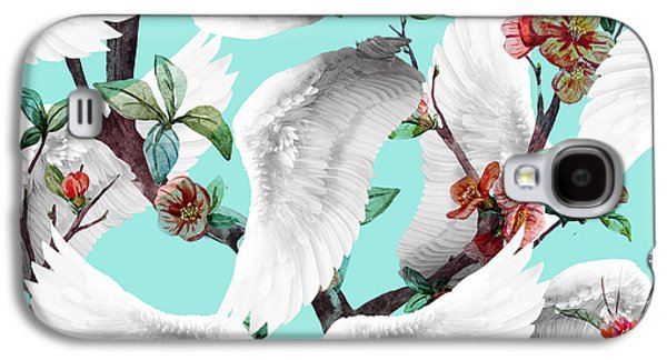 Tropical Wing Floral  Galaxy S4 Case by Mark Ashkenazi