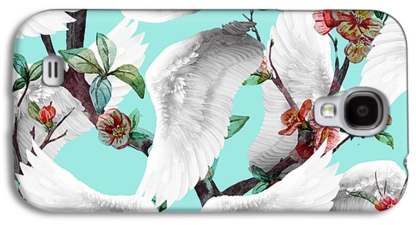 Tropical Wing Floral  Galaxy S4 Case