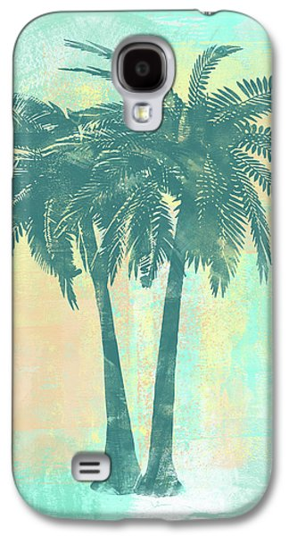 Tropicalifornia II Sponge Painted Abstract Tropical Palm Trees Galaxy S4 Case by Tina Lavoie