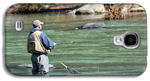 Trout Fishing Galaxy S4 Case by Todd Hostetter