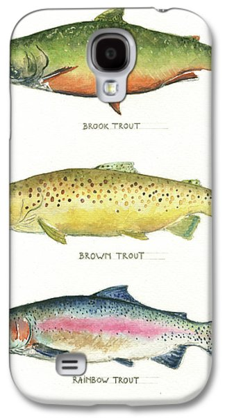Trout Species Galaxy S4 Case by Juan Bosco