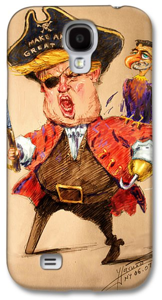 Trump, The Short Fingers Pirate With Ryan, The Bird Galaxy S4 Case by Ylli Haruni