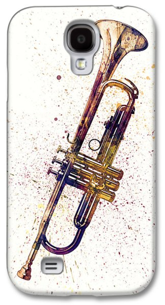 Trumpet Galaxy S4 Case - Trumpet Abstract Watercolor by Michael Tompsett