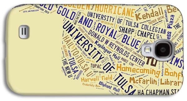Tu Word Art University Of Tulsa Galaxy S4 Case by Roberta Peake