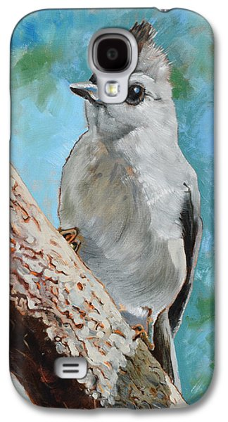 Titmouse Galaxy S4 Case - Tufted Titmouse #1 by Amber Foote