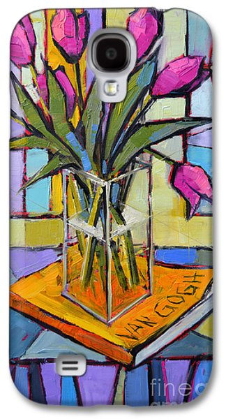 Tulips And Van Gogh - Abstract Still Life Galaxy S4 Case