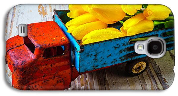 Tulips In Toy Truck Galaxy S4 Case by Garry Gay